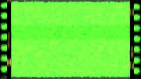 Винтажная старая рамка прокладки фильма grunge с зеленым цветом ключа chroma Стоковая Фотография RF