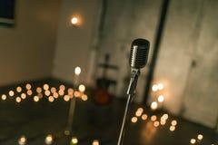 Винтажная студия mic стоковая фотография rf