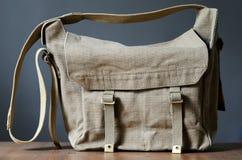 Винтажная сумка холста Стоковое Изображение RF