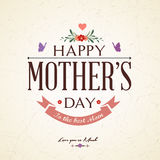 Винтажная счастливая карточка дня матерей стоковые изображения