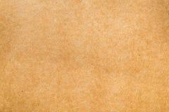 Винтажная текстура коричневой бумаги сделанная от естественного волокна для офиса u Стоковая Фотография RF