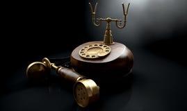 Винтажная темнота телефона с крюка Стоковые Фотографии RF