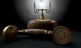 Винтажная темнота телефона с крюка Стоковое Изображение RF