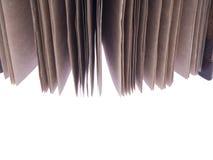 Винтажная тетрадь с деревянными крышками на белой предпосылке Стоковые Фотографии RF