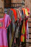 Винтажная ткань - красочный конец поверхности половика стиля Таиланда вверх по винтажной ткани сделан рук-сплетенной хлопко-бумаж Стоковые Фото
