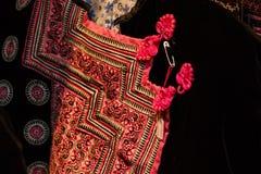 Винтажная ткань - красочный конец поверхности половика стиля Таиланда вверх по винтажной ткани сделан рук-сплетенной хлопко-бумаж Стоковое Изображение