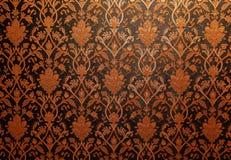 Винтажная традиционная тайская линия обои искусства Стоковые Фото