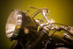Винтажная фара мотоцикла стоковая фотография rf