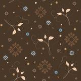 Винтажная флористическая безшовная картина Стоковые Изображения RF
