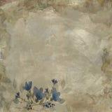 Винтажная флористическая бумажная предпосылка Стоковая Фотография