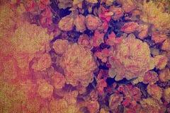 Винтажная флористическая дерюга для предпосылки Стоковая Фотография