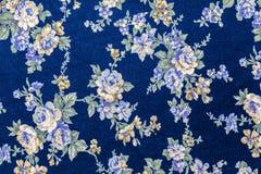Винтажная флористическая картина ткани Стоковое Изображение RF
