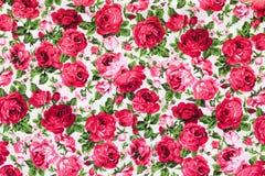 Винтажная флористическая картина ткани Стоковое Изображение