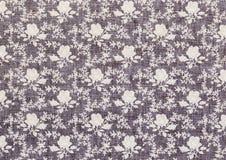 Винтажная флористическая картина ткани Стоковая Фотография
