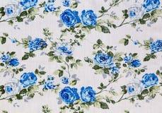 Винтажная флористическая картина ткани Стоковое Фото