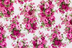 Винтажная флористическая картина ткани Стоковое фото RF