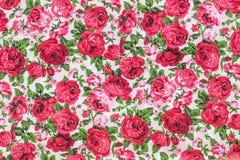 Винтажная флористическая картина ткани Стоковые Изображения RF