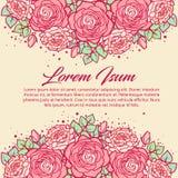 Винтажная флористическая карточка для wedding, день рождения, день ` s валентинки Стоковые Фото