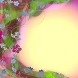 Винтажная флористическая предпосылка рамки Стоковое фото RF