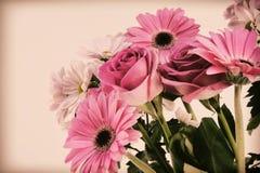 Винтажная флористическая предпосылка Стоковая Фотография