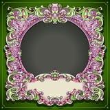 Винтажная флористическая рамка весны Стоковое фото RF