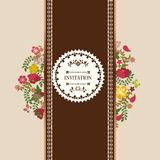 Винтажная флористическая рамка цветет венок - иллюстрация Стоковые Изображения