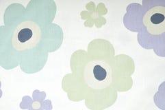 Винтажная флористическая ткань Стоковые Изображения