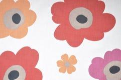 Винтажная флористическая ткань Стоковая Фотография