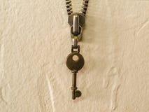 Винтажная цепь молнии ключа и металла ключевая стоковые фото