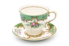 Винтажная чашка чая Стоковое Фото