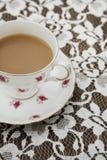 Винтажная чашка чая Стоковые Изображения