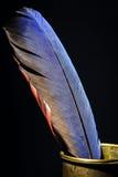 Винтажная чернильница с гусын-quill внутрь Стоковое фото RF