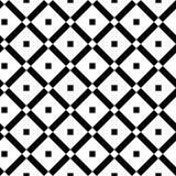 Винтажная черно-белая безшовная картина с простыми геометрическими формами Проверите предпосылку сделанную линии жадности иллюстрация штока