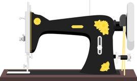 Винтажная швейная машина иллюстрация вектора