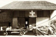 Винтажная швейцарская ферма стоковое фото rf