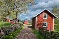 Винтажная Швеция на весеннем времени Стоковые Изображения RF