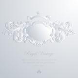 Винтажная шикарная поздравительная открытка & приглашение свадьбы Стоковая Фотография RF