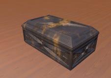 Винтажная шкатулка для драгоценностей (на таблице) Стоковые Изображения RF