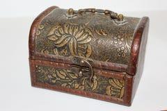 Винтажная шкатулка для драгоценностей сделанная от древесины Стоковое Фото