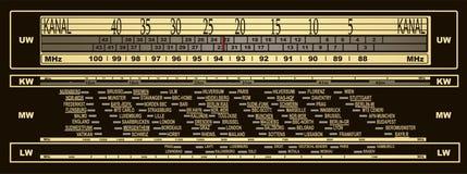 Винтажная шкала радио иллюстрация вектора