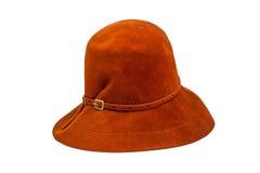 Винтажная шляпа замши Стоковое Фото