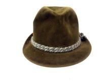 Винтажная шляпа - оливка felt2 Стоковое Изображение RF