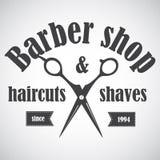 Винтажная эмблема парикмахерской, ярлык, значок, логотип Стоковое Изображение RF