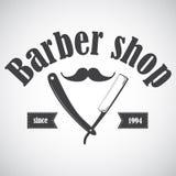 Винтажная эмблема парикмахерской, ярлык, значок, логотип Стоковые Изображения