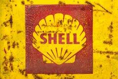 Винтажная эмблема нефтяной компании раковины Стоковые Фотографии RF