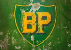 Винтажная эмблема нефтяной компании BP Стоковое фото RF