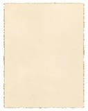 Винтажная Deckled бумага стоковые изображения