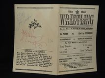 Винтажная wrestling программа стоковые фото