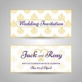 Винтажное арабское приглашение свадьбы картины стиля Стоковое Изображение