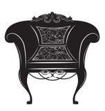 Винтажное барочное имперское кресло Стоковые Изображения RF